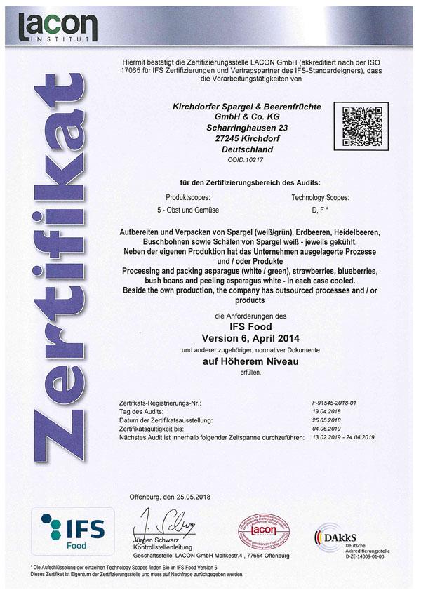 IFS-Zertifikat-2018